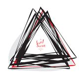 手拉的速写的三角 库存图片