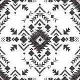 手拉的部族无缝的样式 向量例证