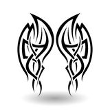 手拉的部族纹身花刺 免版税图库摄影