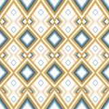 手拉的金黄种族无缝的样式 库存例证