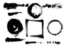 手拉的难看的东西元素 着墨圈子,污点,污点, s 免版税图库摄影