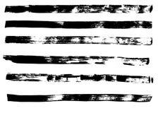 手拉的难看的东西刷子冲程 免版税库存图片