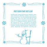 手拉的雪人框架 免版税库存图片