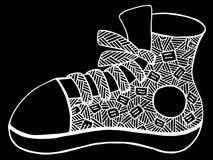 手拉的鞋子例证 免版税库存照片