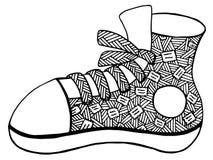 手拉的鞋子例证 免版税库存图片