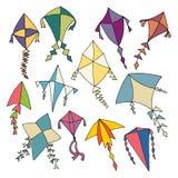手拉的风筝 库存图片