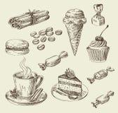 手拉的食物剪影 库存照片