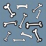 手拉的骨头传染媒介例证象集合 库存图片