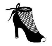 手拉的高跟鞋鞋子例证 图库摄影