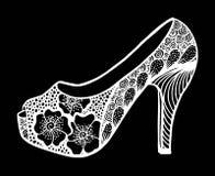 手拉的高跟鞋鞋子例证 库存图片