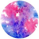手拉的水彩圈子形状 纸纹理 库存照片