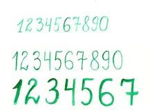 手拉的水彩艺术性的字体 免版税库存照片