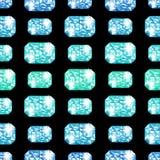 手拉的水彩蓝色和绿色宝石 图库摄影