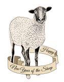 手拉的绵羊 免版税库存图片