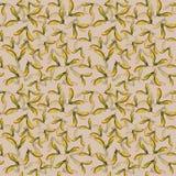 手拉的seamlees样式水彩飞过了种子在米黄背景中隔绝的槭树 皇族释放例证