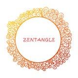 手拉的zentangle文件模板 库存例证