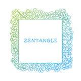 手拉的zentangle文件模板 皇族释放例证