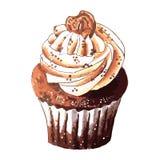 手拉鲜美杯形蛋糕 库存图片