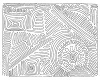 手拉黑白的迷宫,乱画,传染媒介 库存照片
