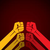 手拳头或准备战斗 免版税库存图片
