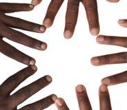 手指和手姿态  免版税库存照片