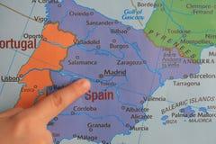 手指展示欧洲的` s零件 免版税库存图片