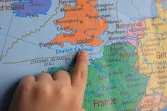 手指展示欧洲的` s零件 图库摄影