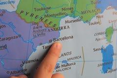 手指展示欧洲的` s零件 免版税库存照片