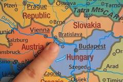手指展示欧洲的` s零件 库存图片