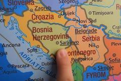 手指展示欧洲的` s零件 库存照片