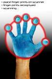 手指扫描 图库摄影