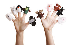手指木偶 免版税库存图片