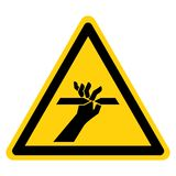 手指标志标志,传染媒介例证,在白色背景标签的孤立切口  EPS10 库存例证