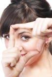 手指框架查找 免版税图库摄影