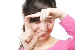 手指框架注视 免版税库存照片