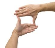 手指框架 免版税图库摄影