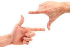 手指框架 免版税库存照片