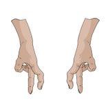 手指步行传染媒介 免版税图库摄影
