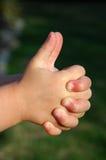 手指比赛 免版税库存图片