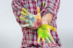 手指油漆 免版税库存照片