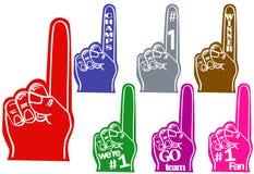 手指泡沫 免版税库存照片