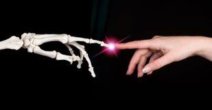 手指涉及 免版税库存图片