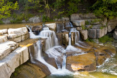 手指湖区域瀑布 库存照片