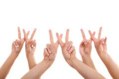 手指点符号万维网 免版税库存照片