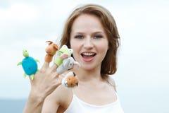 手指玩具 免版税库存照片
