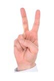 手指现有量编号 库存照片