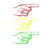 手指红绿灯 库存照片