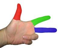 手指绘了 免版税库存照片