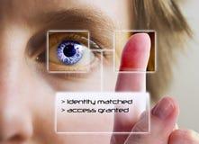 手指虹膜打印扫描 库存照片