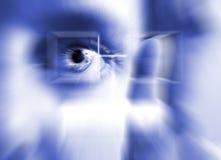 手指虹膜打印扫描 库存图片